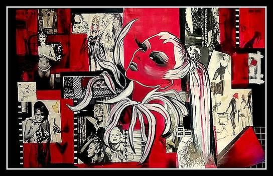 Monroe and Bardot collage by Patricia Rachidi