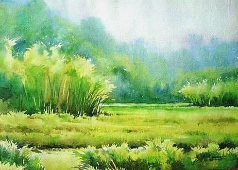 Monsoon Fields by Sandeep Khedkar
