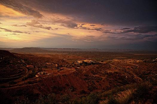 Monsoon Storm Afterglow by Ron Chilston