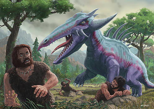 Martin Davey - Monster Attacking Cavemen