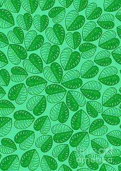 Monstera Leaf 2D Graphic Pattern  by Three second