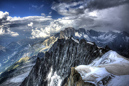 Mont Blanc near Chamonix in French Alps by Shawn Everhart