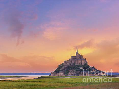Mont-Saint-Michel at Dawn by Laurent Lucuix