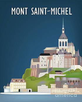 Mont Saint-Michel, France Vertical skyline by Karen Young