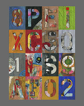 Numbers and Letters Montage by Robert Cattan