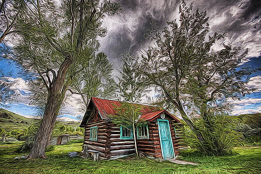 Montana Cabin by Joe Sparks