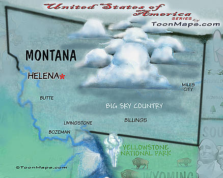 Kevin Middleton - Montana Fun Map