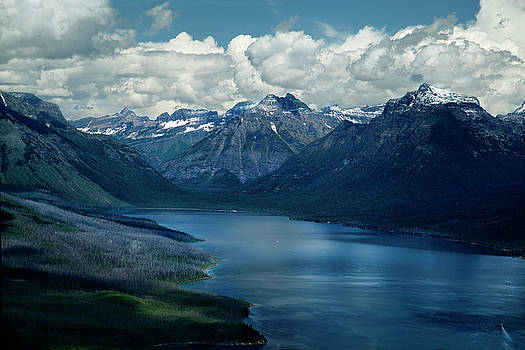 Montana Mountain Vista and Lake by David Chasey