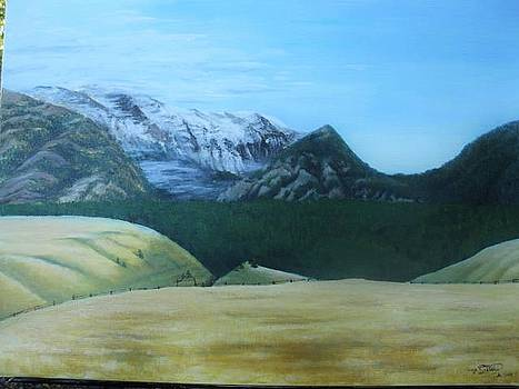 Montana Snowy Mountains by Angie Sellars