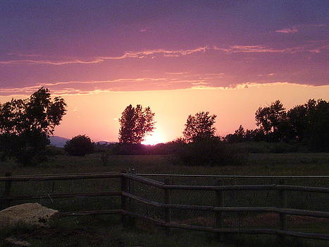 Montana Sunset by Yvette Pichette