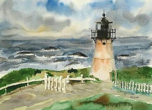 Montara Lighthouse, Plein Air by Richard Zunkel