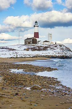 Montauk Lighthouse Winter Beach by Robert Seifert
