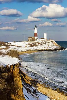 Montauk Lighthouse Winter Bluffs by Robert Seifert