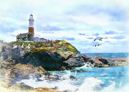 Montauk Point Light by Tom Schmidt