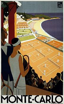 Monte Carlo, travel poster, 1930 by Vintage Printery