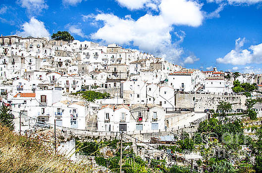 Monte Sant Angelo canvas - prints south italy village - Gargano  by Luca Lorenzelli