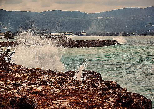 MONTEGO BAY,Jamaica Waves by Allan Einhorn