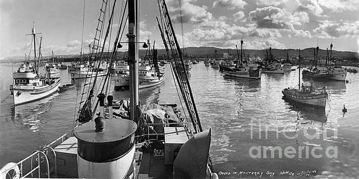 California Views Mr Pat Hathaway Archives - Monterey fishing fleet in Monterey Harbor 1941