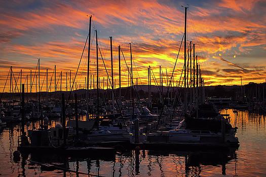 Monterey Harbor Sunrise by Randy Straka