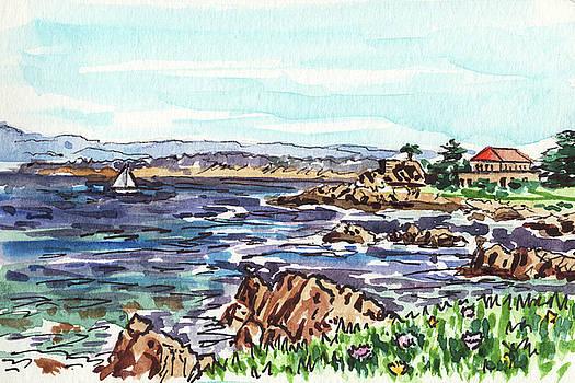 Monterey Pacific Ocean Shore  by Irina Sztukowski