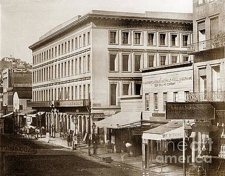 California Views Mr Pat Hathaway Archives - Montgomery Block Montgomery Street Circa 1855