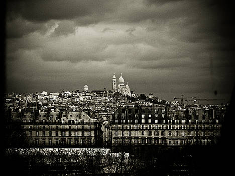 Montmartre black and white by Mark Currier