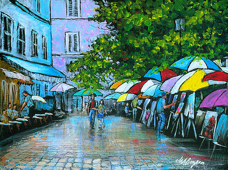 Montmartre in the Rain by Maryann Boysen
