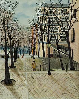 Montmartre Steps in  Paris by Susan Kubes