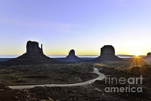 Monument Valley at Sunrise by Peter Dang
