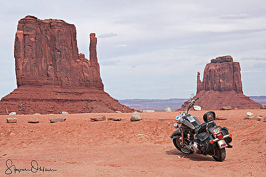 Steve Ohlsen - Monument Valley Motorcycle - Signed Limited Edition