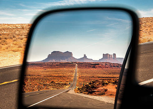 Monument Valley Rearview Mirror by Heather Grow