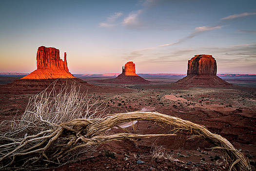 Monument Valley Sunset by Wesley Aston