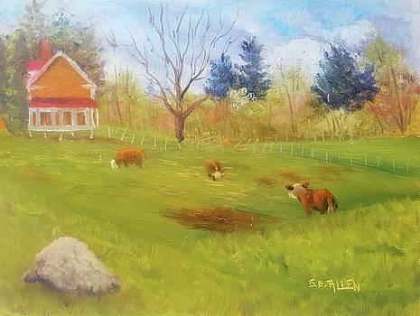 Moo-dy Corner by Sharon E Allen