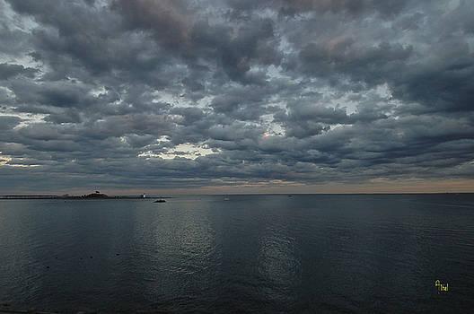 Moody black Rock Bay by Alan Thal