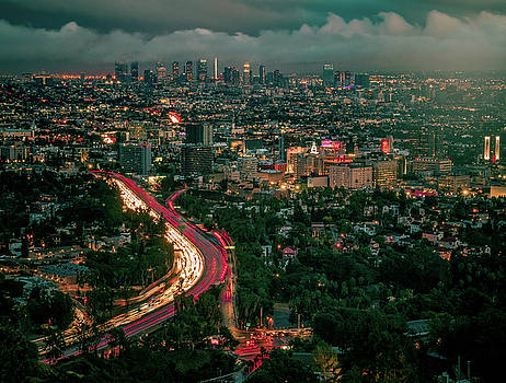 Moody Clouds Over Downtown by Andrew Zuber