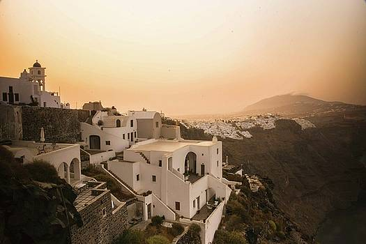 Moody Santorini Sunrise by Colin Collins