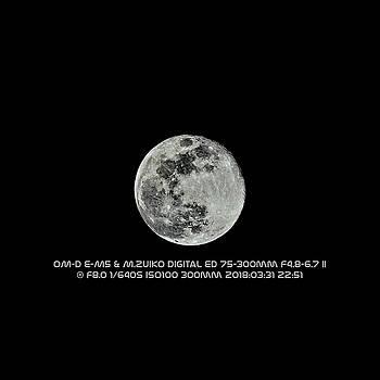 Moon 2018 03 31 by Philip A Swiderski Jr