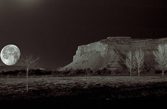 Moon and Coral Cliffs by Edwin Voorhees