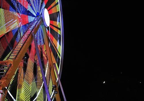 Moon and Ferris Wheel by Crystal Socha