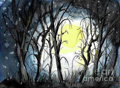 Moon And Trees by Terry Banderas