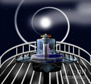 Moon fountain by Artist Nandika Dutt