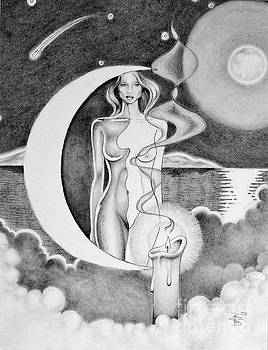 Moon Lady Dream by Robert Ball
