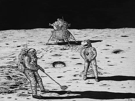 Moon Landing by Larry Oldham