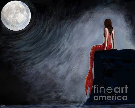 Moon Magic Mermaid by Leslie Allen