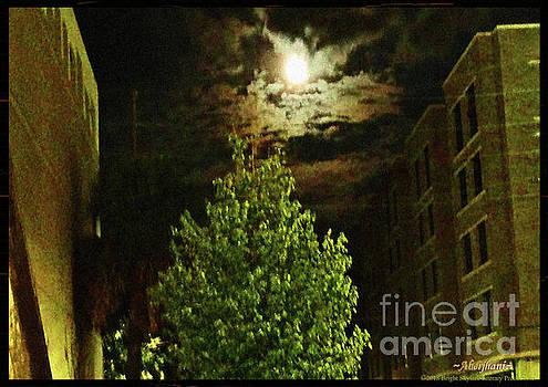 Aberjhani - Moon on Fire over Downtown Savannah