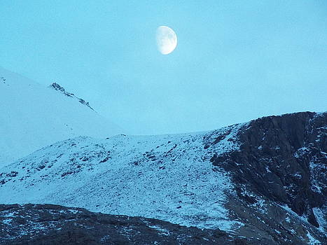 Moon over Canadian Glaciers by Gilbert Pennison