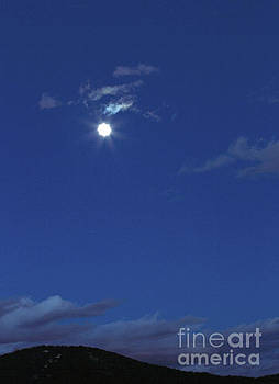 Moon over Canfield Mt. by MaJoR Images