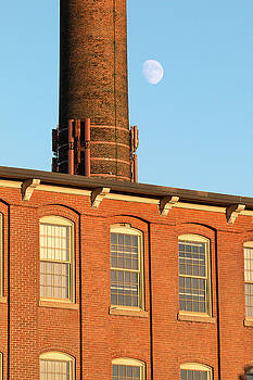 Moon Over Cocheco Mills by Eric Gendron