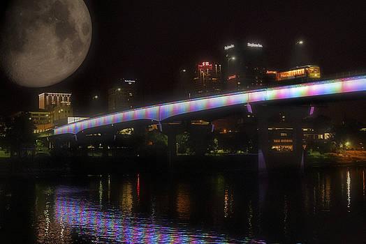 Moon over Downtown Little Rock - Arkansas - Luna by Jason Politte