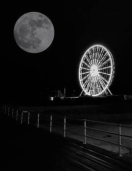 Moon Over Ferris Wheel by Jason Denis